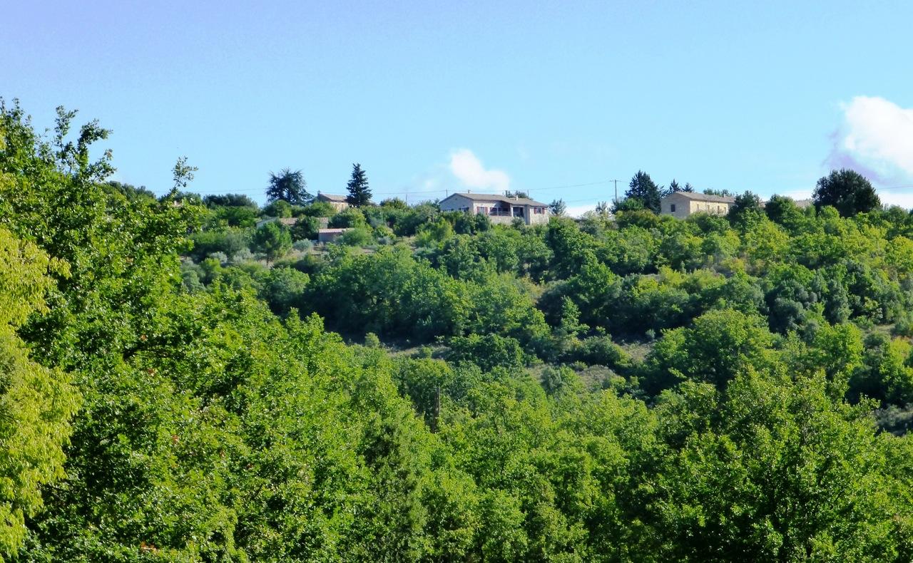 Ferienhaus von Monteils aus gesehen
