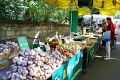 Wochenmarkt Freitags in Barjac